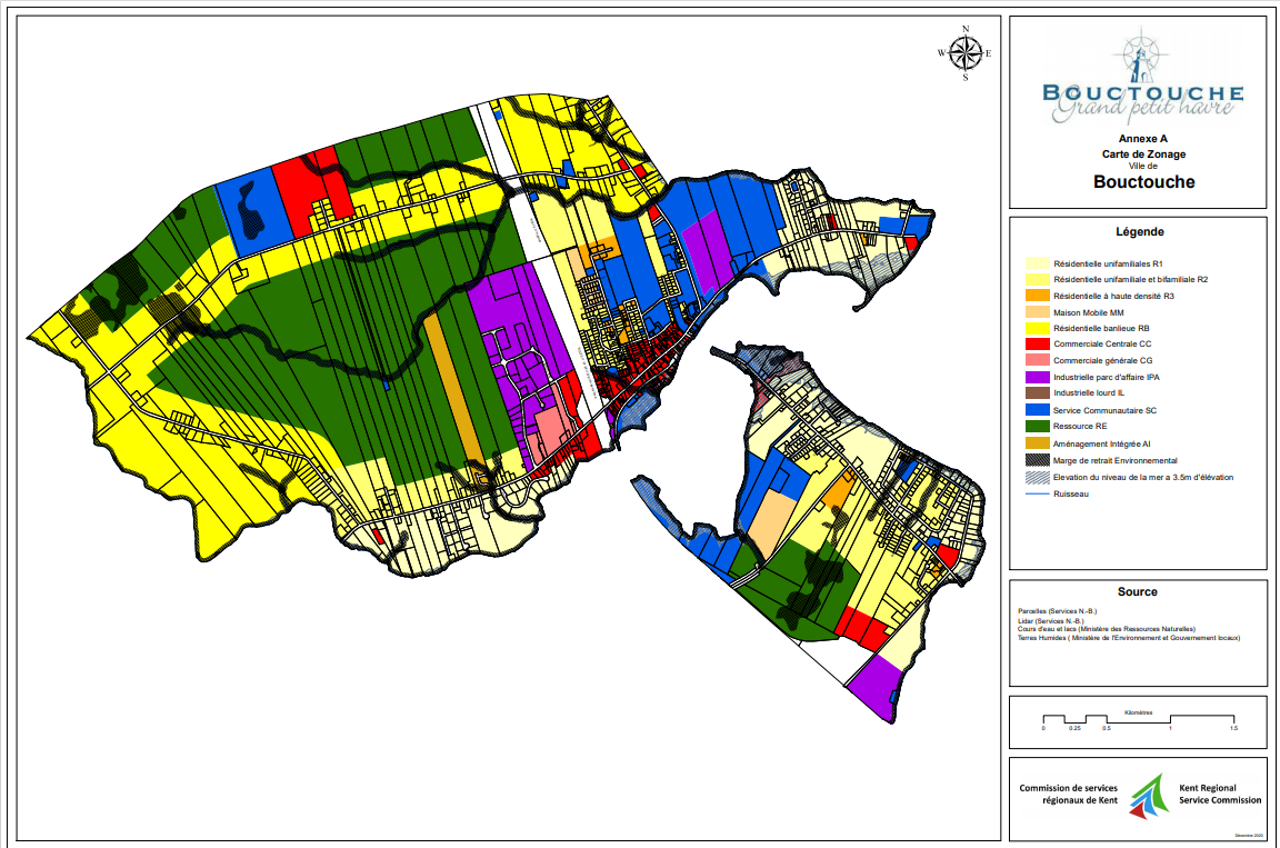 Bouctouche's Zoning